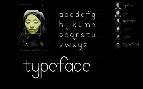 Facial Fonts - Mary Huang's Software Project 'Typeface' Creates Fonts that Mimic Your Face