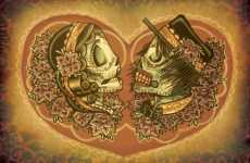 Mexican Skull Weddings - The Dia de los Muertos Invitiations Set an Awesome Mood