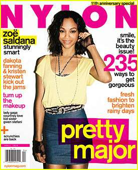 A Candid Zoe Saldana Covers Nylon's April 2010 Issue