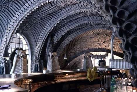 Spine Chilling Taverns - Hans Rudi Giger's Skeleton Bar Has an Eerie Theme