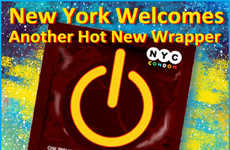 Power Birth Control - NYC Chooses International Power Button Icon for Condom Wrappers