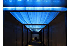 Luminescent Textile Ceilings - The Delight Cloth by Tsuya Textile Co.