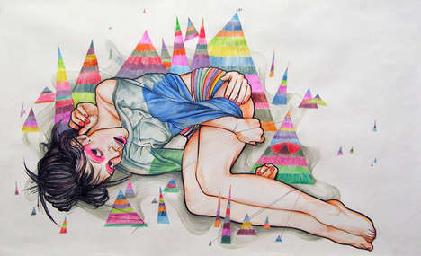 Rainbow Pyramid Art