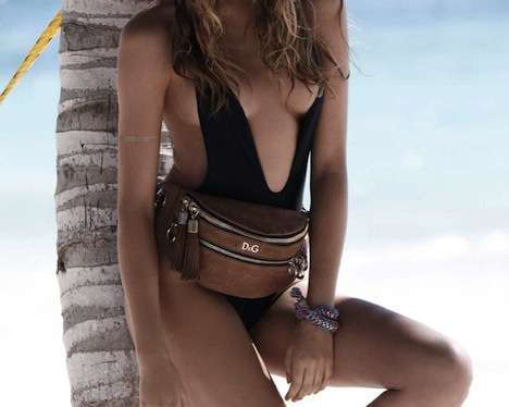 Fashionable Fanny Packs - Elle France Shows Sexy Beach Accessories