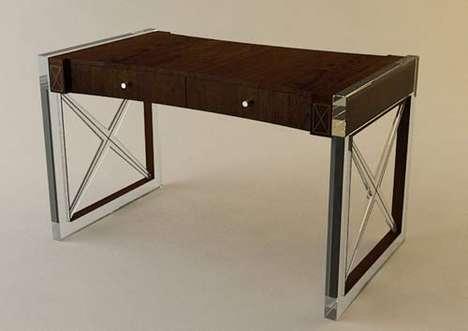 Juxtaposed Material Furniture