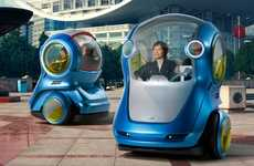 Personal Urban Minicars - Electric Networked Vehicle (EN-V) Will Network With Other Vehicles