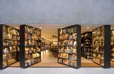 Swiveling Bookshelf Entrances