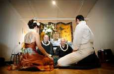 Modern Buddhist Weddings - The Erin and Casey Wedding Incorporates Overalls as Wedding Attire