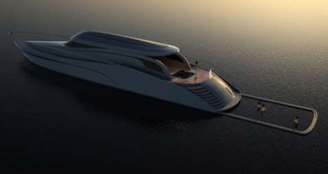 Pop-Out Yacht Pools - Vuk Dragovic's 'Atreides' Yacht Lets You Have a Pool in Every Ocean