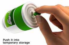 Portable Gum Garbages - The Green Seeds Bottle by Gonglue Jiang