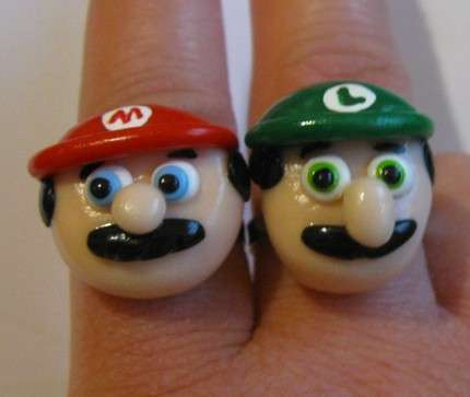 The Mario Bros. Rings Would Make Great Wedding Bands