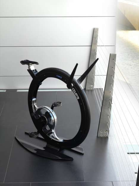 Round Exercycles - Ciclotte Is A Lightweight Exercise Bicycle