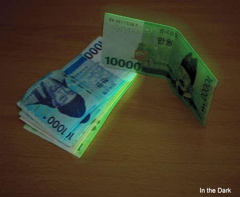 Glowing Green Bills