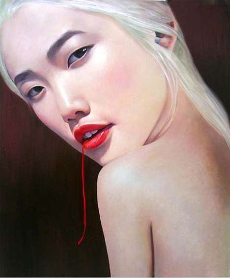 Bloody Thread Art - The Bleeding Paintings of Ling Jian