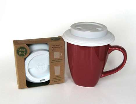 At-Home Coffee Covers - The Mug Hug Seals in Your Morning Brew, Just Like at the Coffee Shop