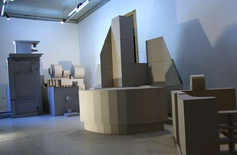 Existential Furniture Exhibits - Ales Villegas Stages a Spatial Battle at the Galería Die Ecke