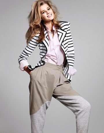 Contrast Striped Blazers