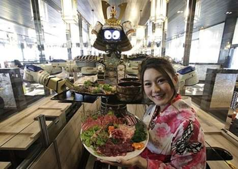 Samurai Robot Waiters