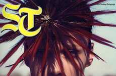 Feathery Faced Headpieces - 'The Wild Frontier' in The Sunday Telegraph is Fierce