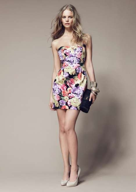 Strapless Floral Minis