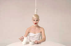 Tea Time Asphyxiation - 'Morning White' by Maurizio Fantini Takes a Page From Lady Gaga's Lookbook