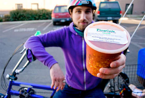 Subscription Soup Deliveries - SoupCycle Brings Portland Organic Locavore Meals Via Bicycle
