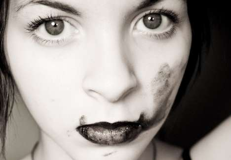 Artfully-Smeared Lipstick