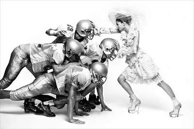 Football-Fighting Brides