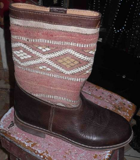 Tribalesque Leather Boots - 'Kilim' Boots Make an Entrance in European Fashion