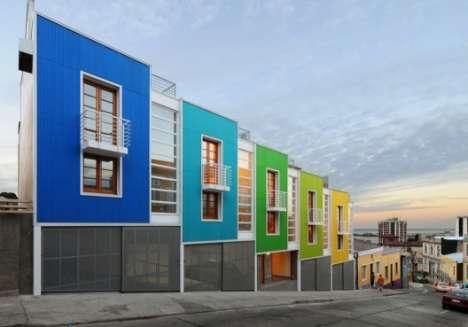 Colourful Slanted Apartments