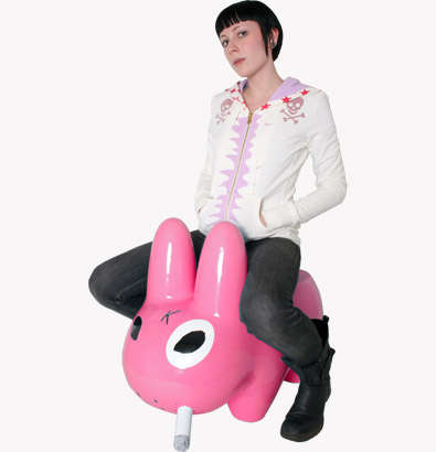 Hot Pink Bunny Benches