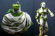 Growing Green Statues - The Terraform Sculptures by Robert Cannon Breaks in All the Right Places