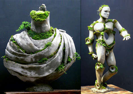 Growing Green Statues