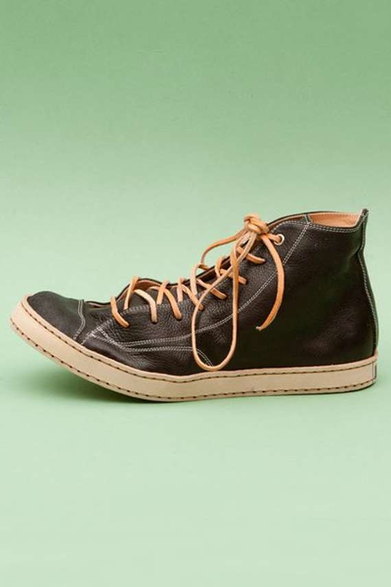 Luxe Leather Hi-Tops : Handmade Leather