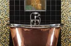 24k Gold Fine Art - Add Luxury to the Washroom With the Klimt Bathroom Tile