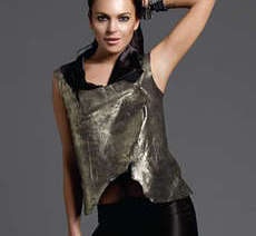 Metallic Leather Vests