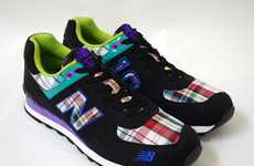 Neon Plaid Kicks - The New Balance 574 Sneakers Cram in More Color Than a Pack of Skittles