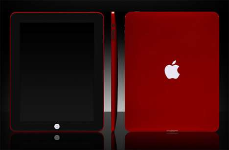 Cherry Red Apple iPads