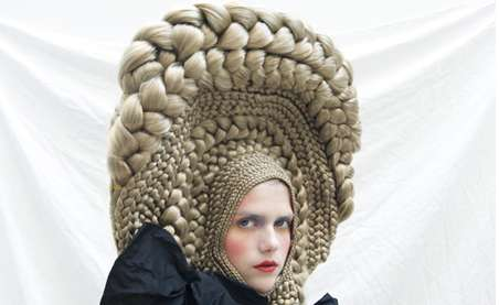 Architectural Hair Braids - Studio Marisol's Series for CuldeSac Crazy Hair Art Workshop is Wild