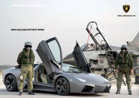 Aviation-Inspired Supercar Ads
