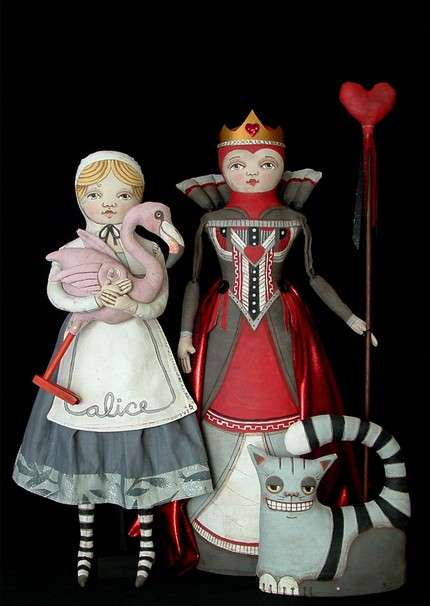Alice in Wonderland Dolls by Cart Before the Horse Etsy Shop