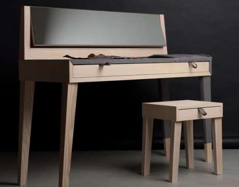 Piano-Shaped Dressing Tables