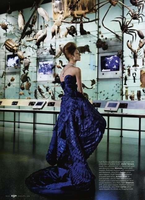 Elegant Ruffled Gowns
