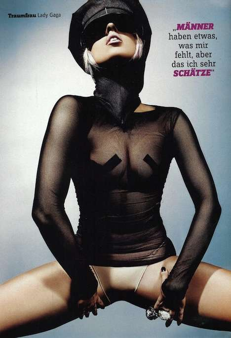 Lady Gaga Covers FHM Germany April 2010 in Leather & Tape