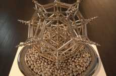 Buckyballs as Art - Robert Hodgin Creates Epic Artwork With Magnetic Balls and Cylinders