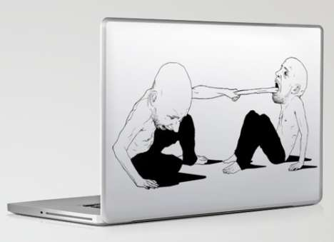 Tongue-Pulling Laptop Decals