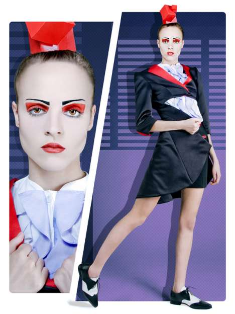 Geometric Eye Makeup - Farzan Esfahani Autumn/Winter Collection Takes a Pop Art Spin on Fashion