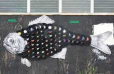 Recycled Vinyl Wall Art - Extinct Creatures and Technology Collide in Jacksonville, Florida