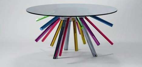 Rainbow Legged Tables