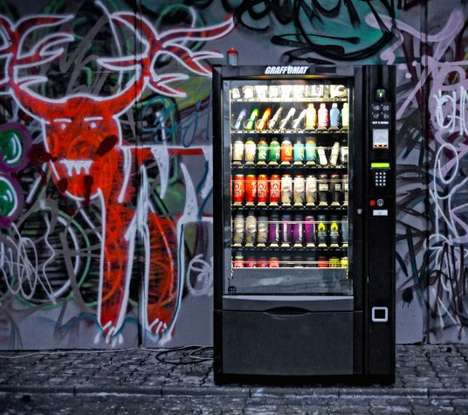 Graffiti Vending Machines - The Graffomat Makes Sure Graffiti Artists Have a Stock of Supplies